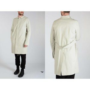 RICK OWENS WALRUS New 50 US 40 Single Breasted Mac Trench In Dinge S/S 17